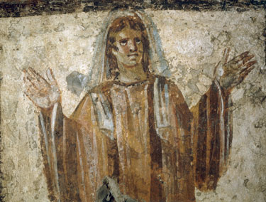 Fresco from the Catacomb via Anopo on the via Salaria 3rd Century Rome