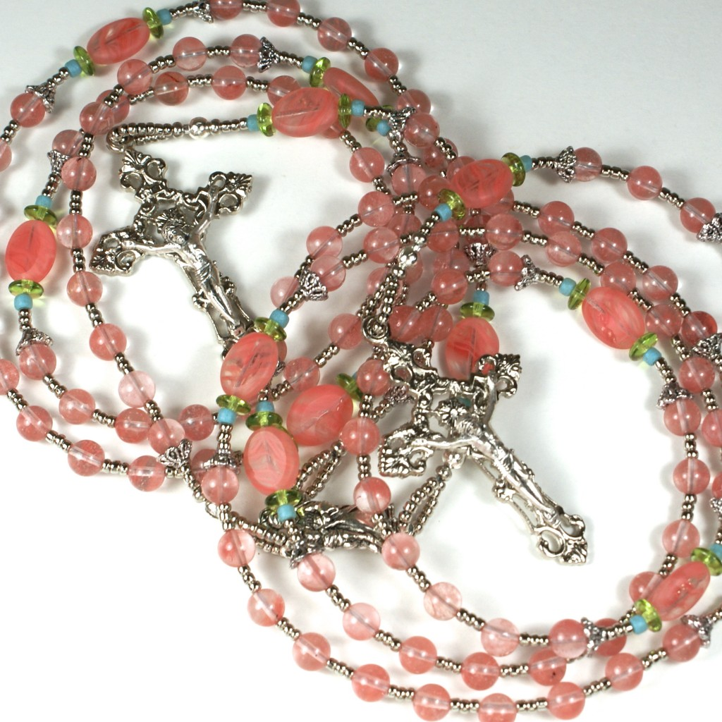 Mother Daughter Rosary Set