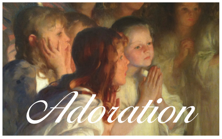 The Adoration of the Christ Child by Carl Marr